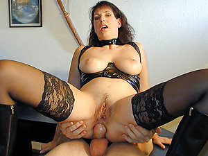 Ass-fuck sex of nice mature women