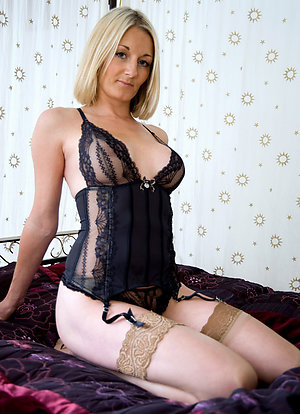 Beautiful sexy old lady lingerie pics