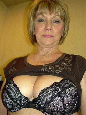 Spectacular sexy old mom in lingerie