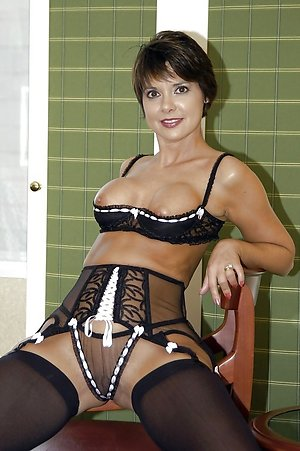 Pretty mature milfs in sexy lingerie