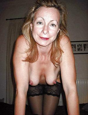 Naked old mature hard nipples