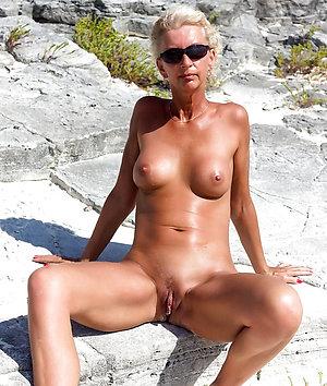 Pretty sexy mature outdoor