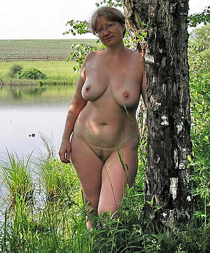 Cute horny old women on the nature