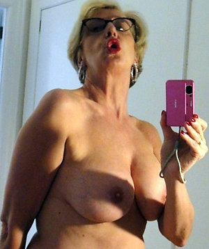 Selfshot of beautiful mature women