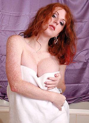 Horny amateur mature redhead fuck