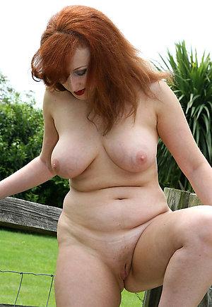 Lovely amateur mature redhead women