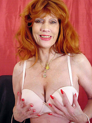 Fantastic hot redhead old women stripped