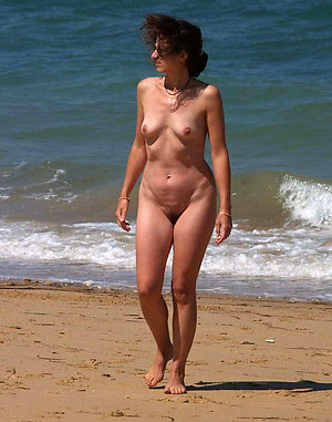 Horny sexy mature nude small tits