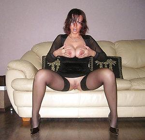 Slutty naked women in stockings