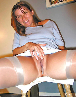 Classy nylon stockings legs stripped