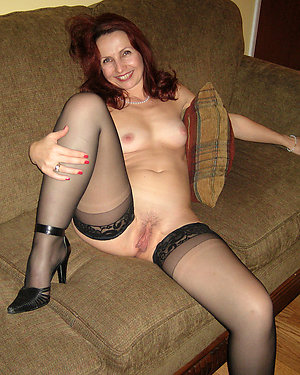 Hottest busty mature stockings stripped