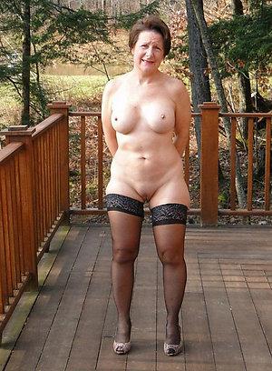 Pretty sexy wife wearing stockings photo