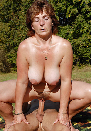 Amazing nude older women in the outdoors