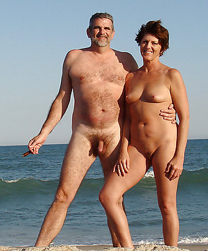 Alluring bare beach couples