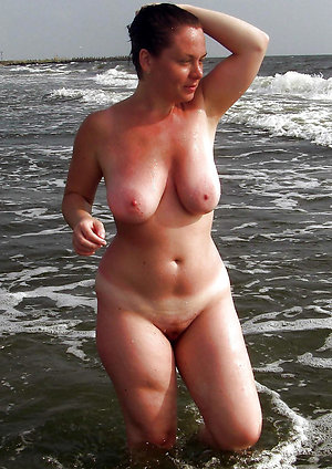 Pretty old women on nude beach pics