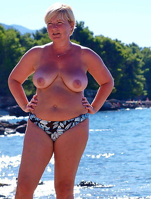 Nude old girls on the beach