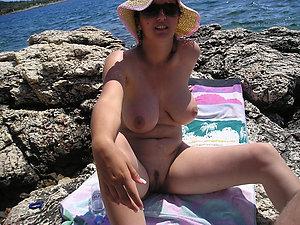 Favorite mature beach tits