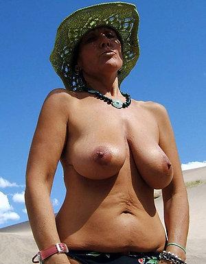 Sweet mature beach photos