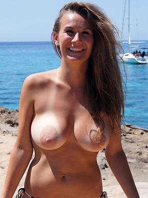 Hot mature topless beach