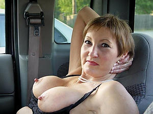 Real hot mature car making love