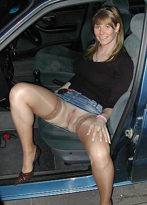 Naughty real mature car porn