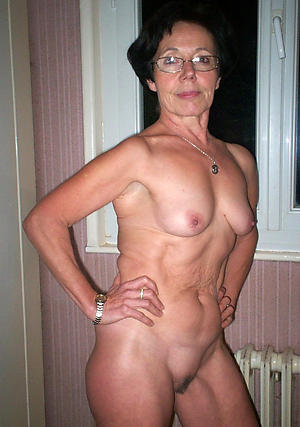 Superannuated women small tits