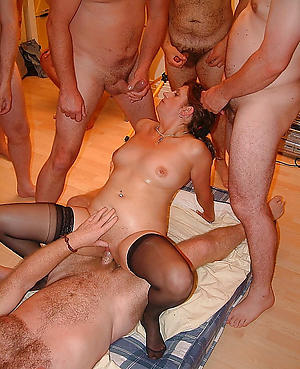 Taking amateur mature group sex