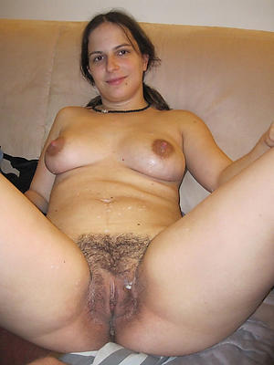 Naked unshaved hairy pussy