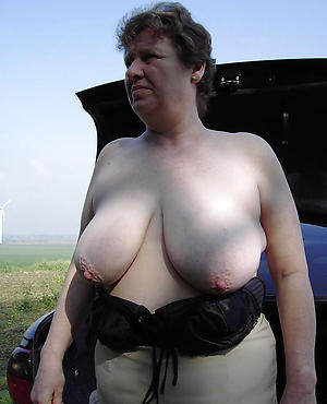 Inferior photo of mature busty blonde