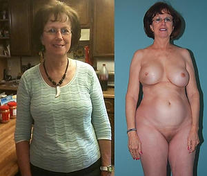 Amateur photos of mature before and after