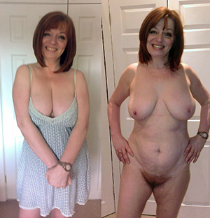 Sweet mature before and after