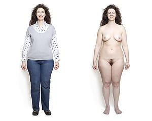 Naked mature lady onwards and after