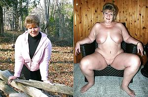 Amateur pics of full-grown lady before and after