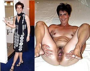 Xxx mature lady before with an increment of after