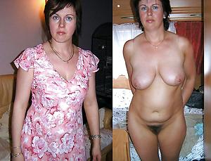 Sexy old lady in the lead and after pics