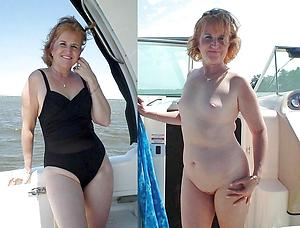 Real old lady before and after