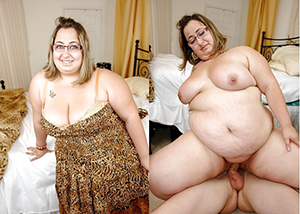 Frying old lady before and after pics