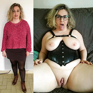 Unpaid pics of old lady before and after