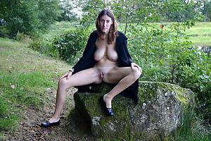 Inexperienced mature brunette woman