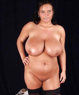 Nude curvy busty mature