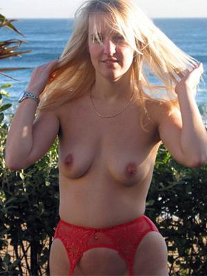 Naughty mature blonde naked