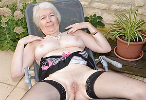 Sweet mature blonde in stockings pics