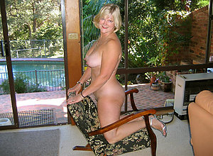 Cute mature blonde granny