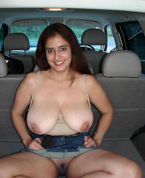 Naughty mature in car porn photos