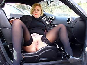 Favorite nude mature round car