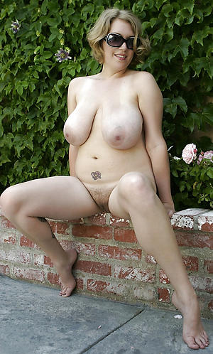 Amateur mature wife outdoors