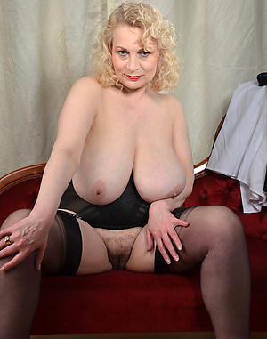 Slutty mature big natural breast markswoman