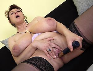 Slutty mature masturbating column
