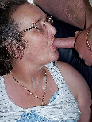 Naked mature facial cumshot