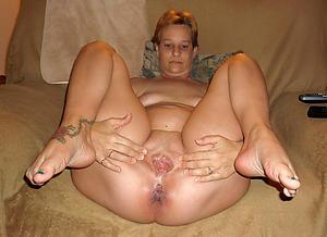 Curvy  mature stocking feet